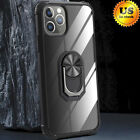 For iPhone 11/11 Pro Max Clear Back With Ring Holder Stand Protective Cover Case