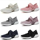 Ladies Ultra Round Toe Flats Breathable Walking Holiday Shoes Sneaker 6 Colors