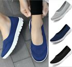 New Womens Casual Mesh Shoes Trainers Flat Slip On Comfy Pumps Sneakers 4 Colors