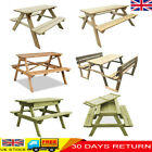 Wooden Garden Picnic Table Bench Outdoor Pub Bench 4-seat Patio Furniture New