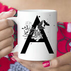 A Initial Monogram Coffee Mug More Letters Available Microwave And Dishwasher photo