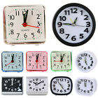 Small Battery Operated Analog Travel Alarm Clock Home Portable Travel Clocks NEW
