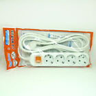 [Long Cable 2.5m 4.5m 8m] 220V Multi Power Outlet Strip Switch Socket Adapter EU