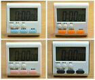Large LCD Digital Kitchen Cook Timer Count-Down Up Clock Alarm Magnetic Tool