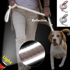 4ft Reflective Dog Pet Leather Lead Leash Outdoor Walking Training Dog Control