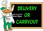 (Choose Your Size) Pizza Delivery Carryout DECAL Food Truck Concession Sticker