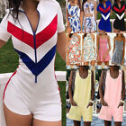 Womens Casual Mini Playsuit Jumpsuit Romper Summer Holiday Bodycon Shorts Dress