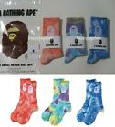 A BATHING APE Goods Men's APE HEAD TIE DYE SOCKS 3colors New