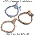 Bracelet Flower Charm Bead Anklet Adjustable Cotton Friendship Ankle Gift Ladies