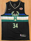 #34 Giannis Antetokounmpo Milwaukee Bucks MEN'S Stitched BLACK Jersey on eBay