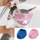 Anti-Bark Cat Muzzle Pet Dog Bath Grooming Mesh Breathable Mouth Cover Pink Blue