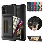 For Iphone 11 Pro Max 8 7 6 Plus Leather Card Slots Wallet Stand Case Back Cover