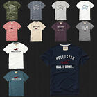NWT HOLLISTER Applique Logo Graphic Men T Shirt Tee By Abercrombie