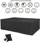 Large Garden Patio Furniture Cover For Rattan Table Bench Outdoor Weatherproof