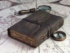 Vintage Genuine Leather Journal Deckle Edge Paper Handmade Leather bound Journal