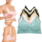 6 Womens Wire Free Nursing Bra Maternity Breastfeeding Pregnant Underwear M L XL