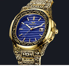 Relojes De Hombre Retro Gold Men's Watch Quartz Casual Waterproof Watches