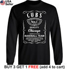Chicago Cubs Long T-Shirt Whiskey Graphic CHI Men Cotton JD Whisky on Ebay
