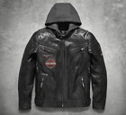 Harley Davidson Men's Marmax Eagle Leather Race Jacket 3n1 97002-18VM