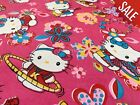 Pink Hello Kitty Floral Kids Curtain Cushion Fabric Material SALE