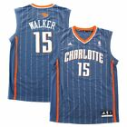 Kemba Walker Charlotte Bobcats NBA Adidas Men's Grey Official Replica Jersey on eBay