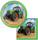 Tractor Time Dessert Paper Plates & Napkins Birthday Party Baby Shower boy girl