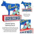 Pioneer Woman Home Floral Cow Decor Wall Metal Sign Wood Box Wire Vase Wreath