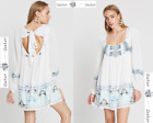 FREE PEOPLE  LARGE  Rhiannon Embroidered Dress Ivory New W Tags