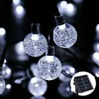 SOLAR POWERED RETRO BULB STRING LIGHTS FOR GARDEN OUTDOOR FAIRY SUMMER LAMP NEW