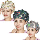 3PCS Bouffant Printed Scrub Caps w/ Sweatband Scrubs Hats Adjust Head Wear Lot