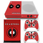 Deadpool Vinyl Cover Skin Decal Sticker for Xbox One S Console & 2 Controllers