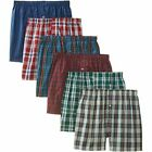3-12 pack Men's Checker Plaid Shorts Assorted Cotton Boxers Trunks Underwear