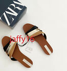 ZARA NEW WOMAN FLAT SANDALS WITH CONTRAST ASYMMETRIC STRAPS 35-42 3865/510