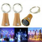 2m 20led Solar Powered Wine Bottle Stopper Cork Fairy String Lights Home Decor