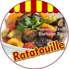 Ratatouille DECAL Choose Your Size Concession Food Truck Circle Sticker