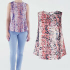Avon Womens Ladies Snakeskin Animal Print Summer Shell Top Blouse Size 18 20