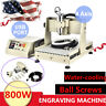 4Axis 3040 0.8KW Water Cooling CNC Router Engraving Machine Metal Wood Cut USB