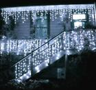 US CoolWhite 13-130FT LED Fairy Icicle Curtain Light Party In/Outdoor Xmas Decor