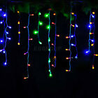 96-960 LED Colors Xmas Fairy String Outdoor Hanging Icicle Snowing Curtain Light