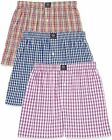 Badger Smith Men's 5 - Pack and 3 - Pack 100% Cotton Checks Multicolor Boxer Sho