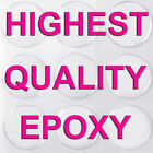 """Clear Epoxy Circle Dome Bottle Cap Round Adhesive Dots 1"""" Inch 25mm Sticker"""