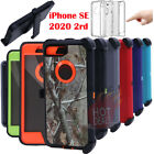 For iPhone SE 2020 Defender Case Cover With Screen Protector Clip Fits OtterBox