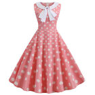 Womens Vintage Retro 50s 60s A-Line Swing Dress Party Rockabilly Skater Dresses