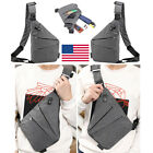 Anti Theft Shoulder Sling Canvas Chest Pack Crossbody Mens Bag Business Travel