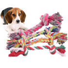 1pcs pet supplies Pet Dog Puppy Cotton Chew Knot Toy Durable Braided Bone Rop F4
