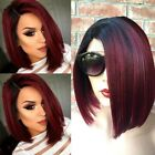 Women's Ladies Real Natural Short Straight Hair Wigs BOB Style Cosplay Full Wig