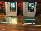 Stack Up Video Game for Nintendo NES w/ Manual *CLEANED,TESTED,AUTHENTIC* RARE