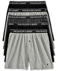 Polo Ralph Lauren 5 PACK KNIT BOXERS Black Classic Reinvented Underwear NWT  $60