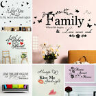 Quote Mural Words Art Vinyl Wall Sticker Home Kitchen Room Decal Decor Family C