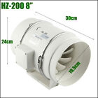 4/6/8 Inch Silent Extractor Fan Duct Hydroponic Inline Exhaust Industrial Vent